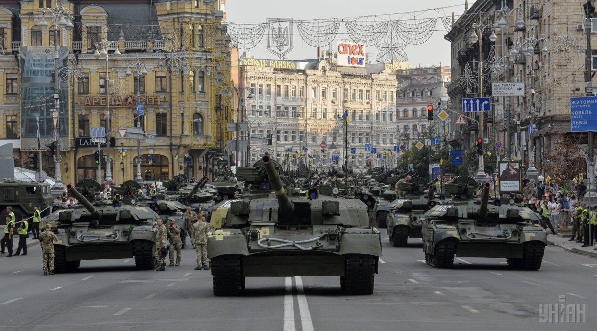 У Києві обмежать рух транспорту низкою вулиць через репетицію параду до Дня незалежності / фото УНІАН