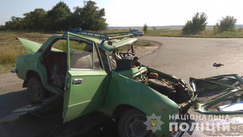 Зіткнулися автомобілі ВАЗ і Lexus / фото: Нацполіція