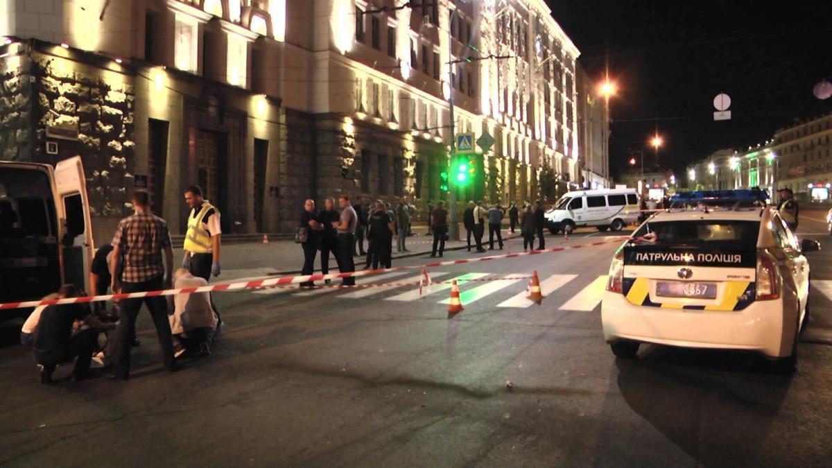 Патрульные обезвредили нападавшего / фото mediaport.ua