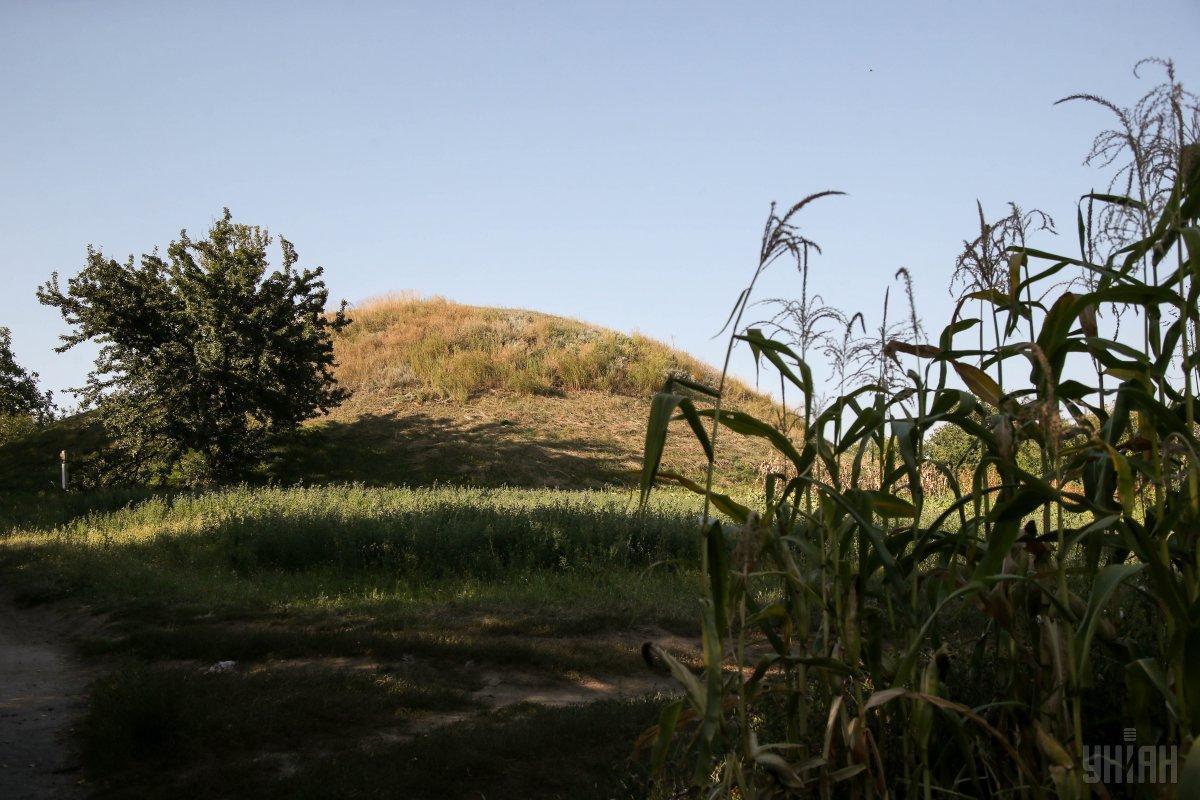 Курган в селе Броварки Полтавской области / фото УНИАН