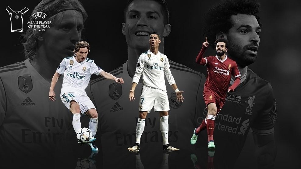 Модріч, Кріштіану Роналду і Салах поборються за звання найкращого футболіста Європи / uefa.com