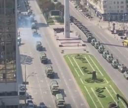 Репетиция парада спровоцировала пробки в столице / скриншот