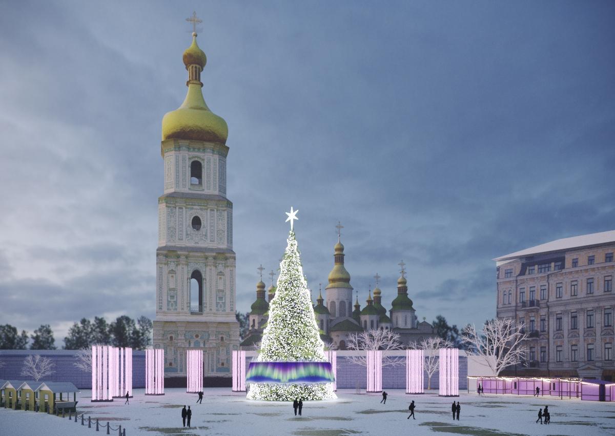 Появился проект рождественского городка в Киеве / фото Folk Ukraine / 44.ua