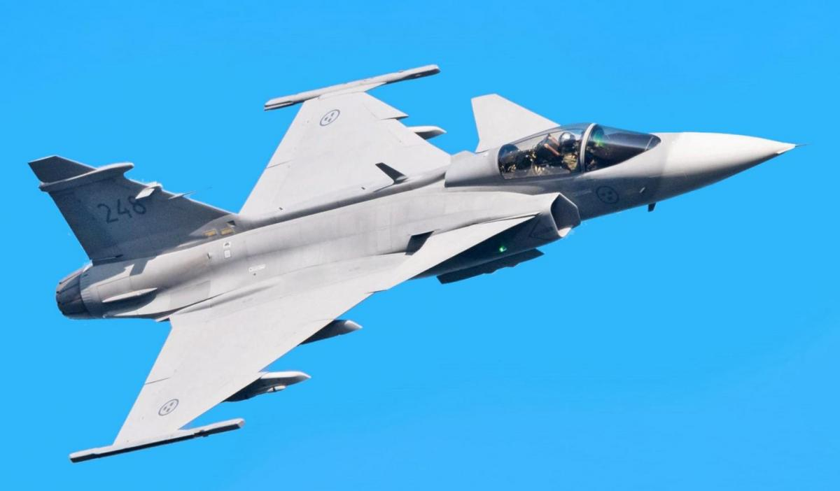 Винищувач Saab JAS 39 Gripen / фото nationalinterest.org