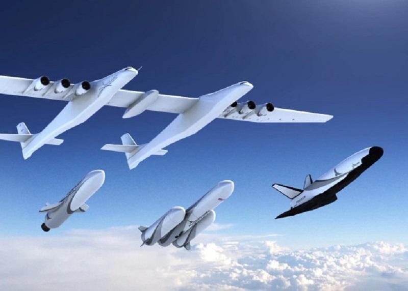 Літак Stratolaunch, ракети-носії MLV і MLV Heavy та космоплан / Фото Stratolaunch Systems