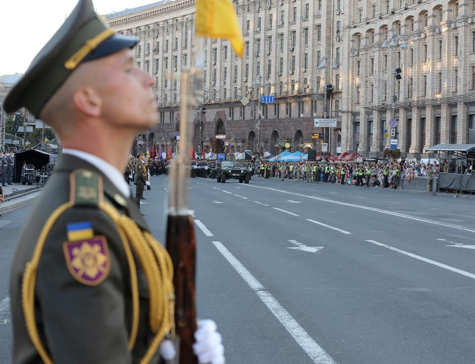 Генеральная репетиция парада состоялась вчера / фото Степан Полторак, Facebook