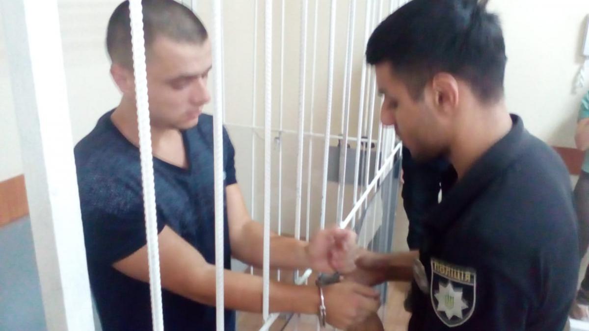 Во время совершения нападения злоумышленник также получил значительный ожог частей своего тела / Фото facebook.com/Vyacheslav.Abroskin