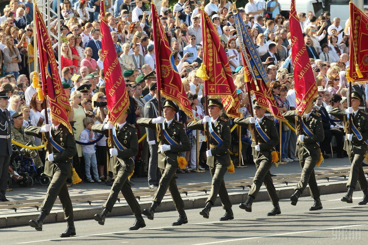 В этом году в мероприятиях ко Дню Независимости примут участие военные всех видов и родов ВСУ / фото УНИАН