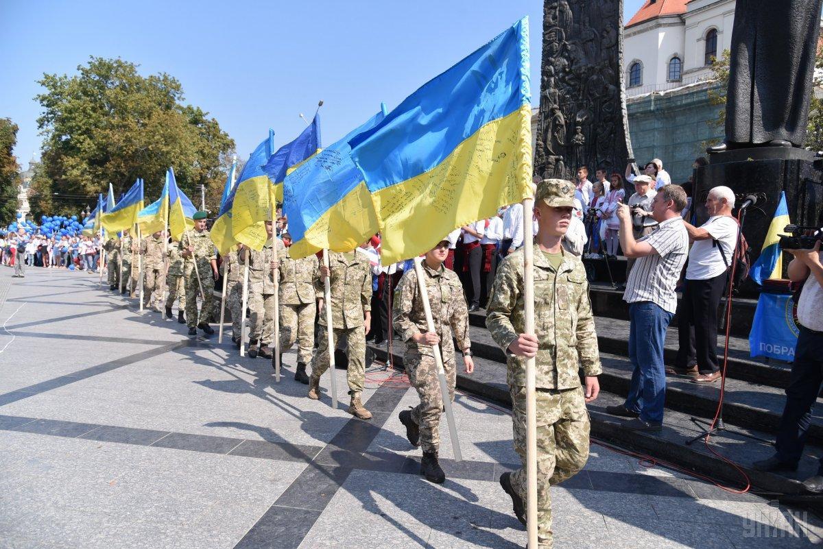 24 августа ожидаются два Шествия защитников Украины / фото УНИАН