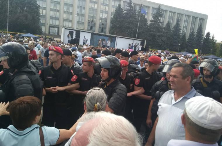 В центре Кишинева проходят протесты / Point
