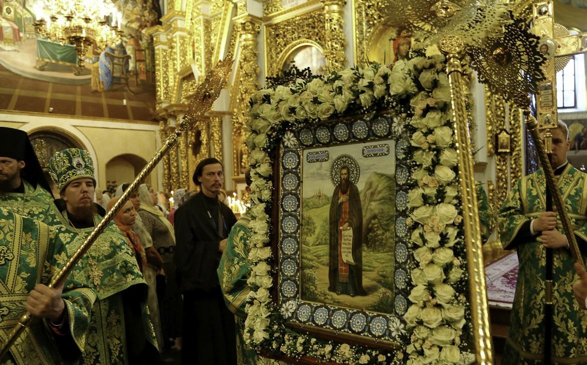 У Києво-Печерській лаврі відзначили перенесення мощей преподобного Феодосія Печерського / lavra.ua