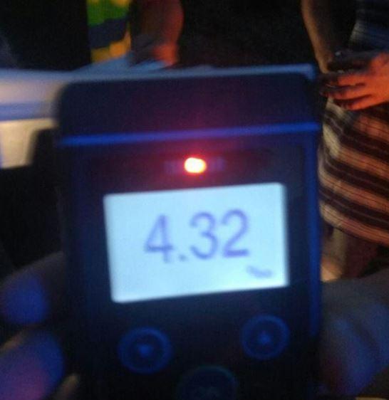 Результат тесту показав позитивний результат - 4,32 проміле алкоголю / фото facebook.com/poltavapolice
