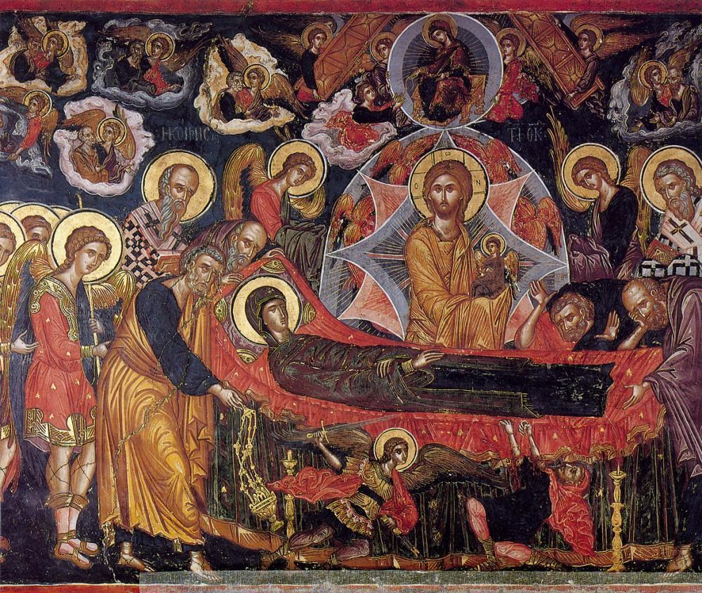 Фото: икона «Успение Пресвятой Богородицы», Афон, монастырь Хиландар, XVII век/ athos-ukraine.com
