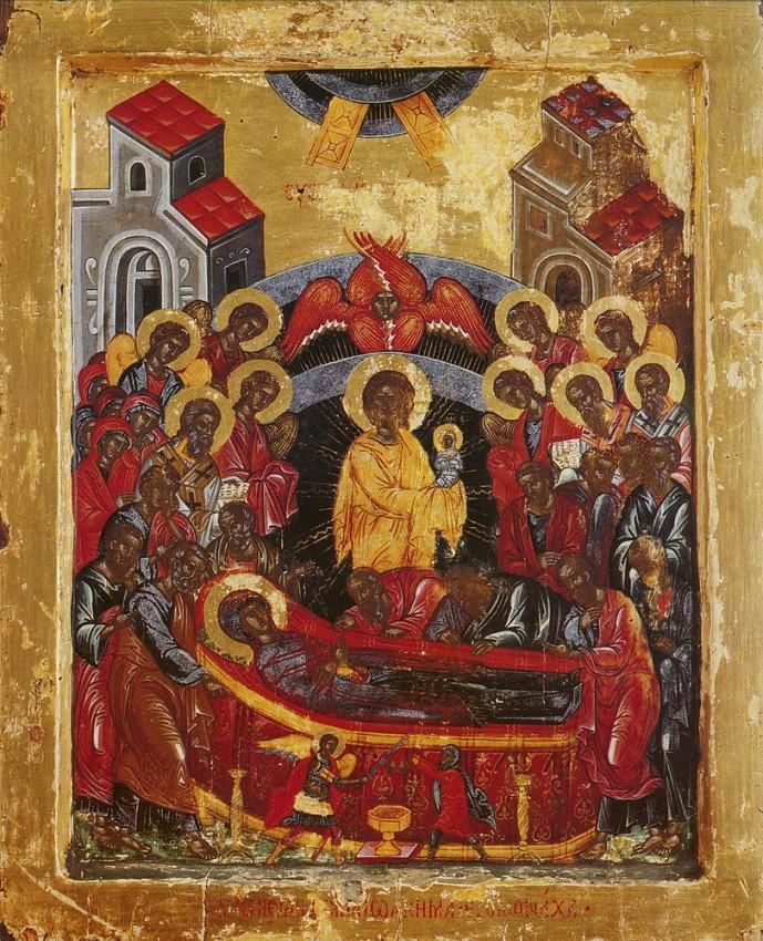 Фото: ікона «Успіння Пресвятої Богородиці», Афон, монастир Хіландар, XVII століття