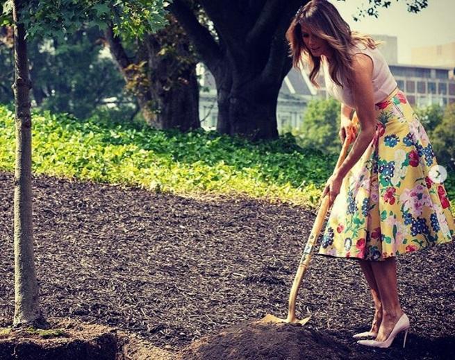 Меланія Трамп посадила дерево / Instagram
