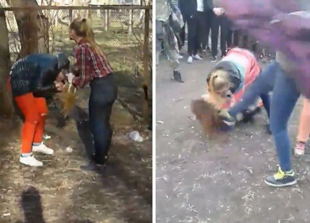 Школярку побила група дівчаток / Скріншот