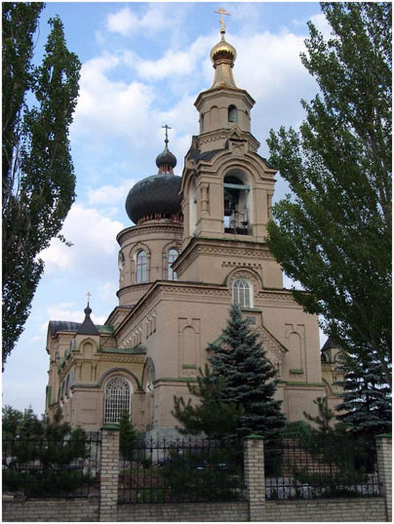 Свято-Покровский храм пгт Старомихайловка / donbass-info.com