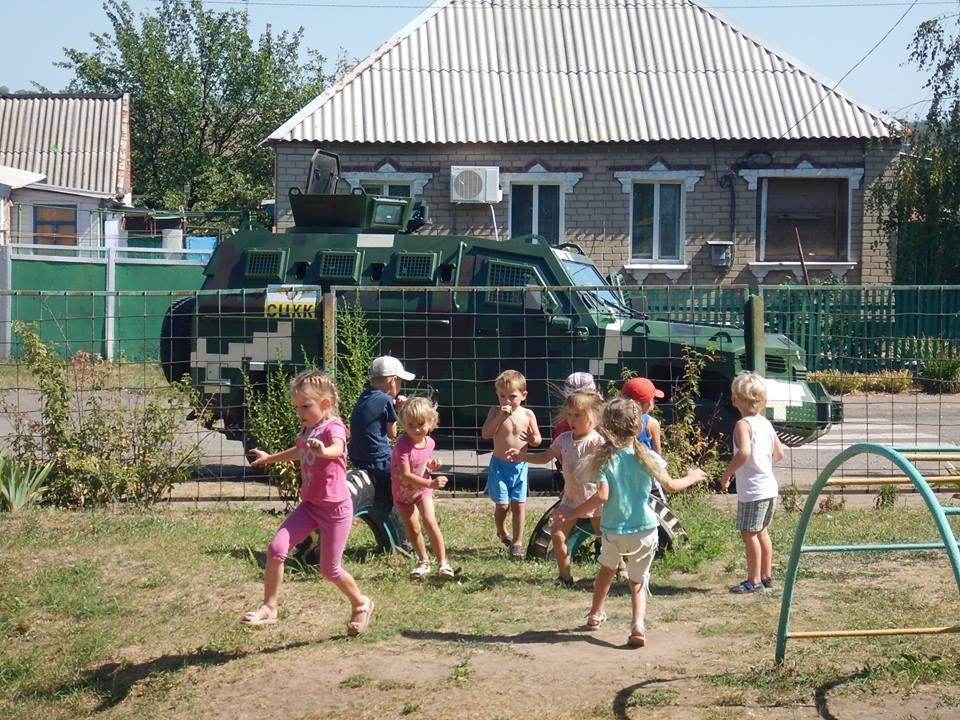 Бойовики обстріляли дитсадок у Верхньоторецькому/ фото прес-служба ООС