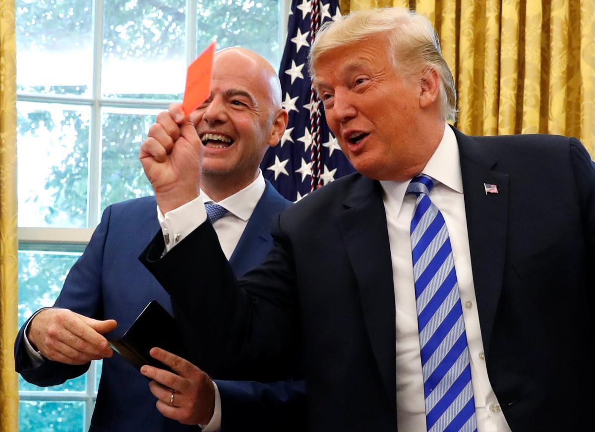 Джанні Інфантіно та Дональд Трамп / REUTERS