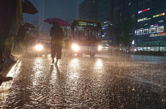 Південна Корея потерпає від повені / Yonhap