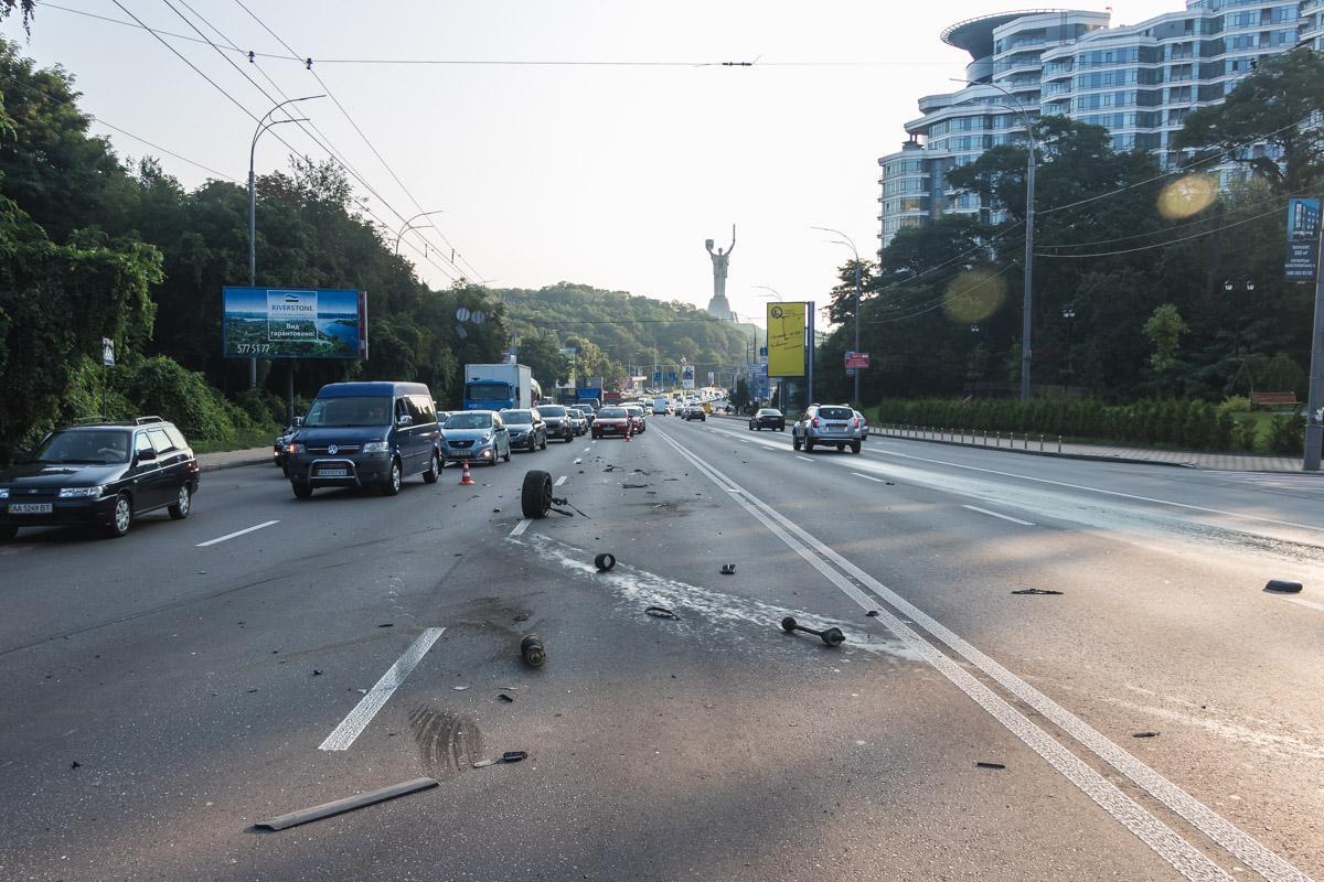 Через аварію утворився затор / фото Інформатор