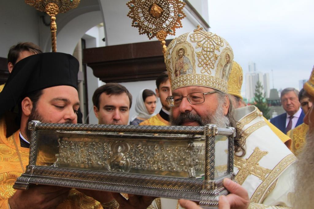 В Храме на Крови состоялась торжественная встреча мощей святителя Спиридона/ ekaterinburg-eparhia.ru