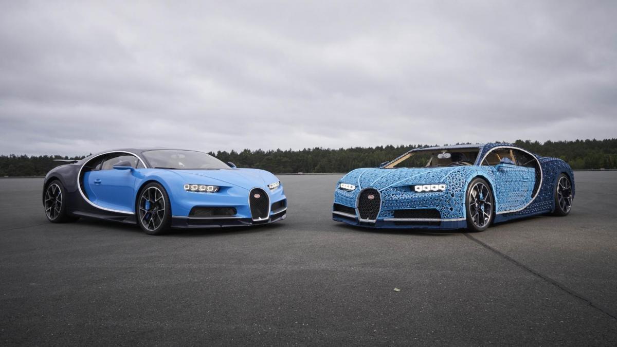 Lego зробила повнорозмірну копію Bugatti Chiron, на якій можна їздити / фото Lego