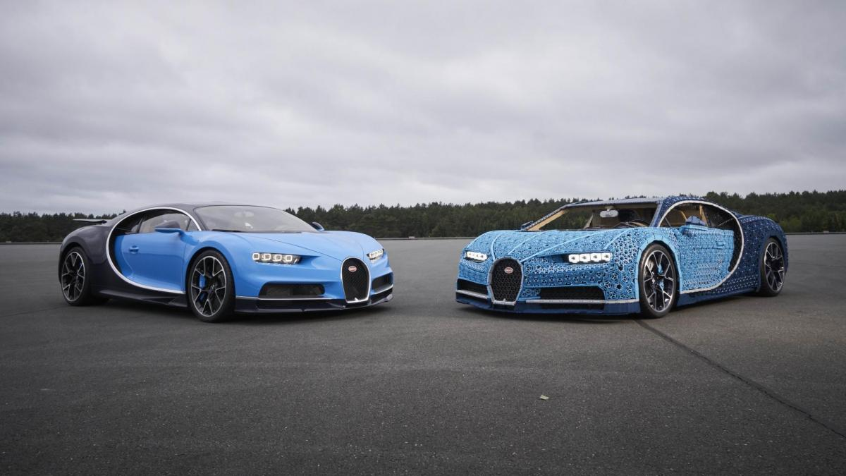 Lego сделала полноразмерную копию Bugatti Chiron, на которой можно ездить / фото Lego