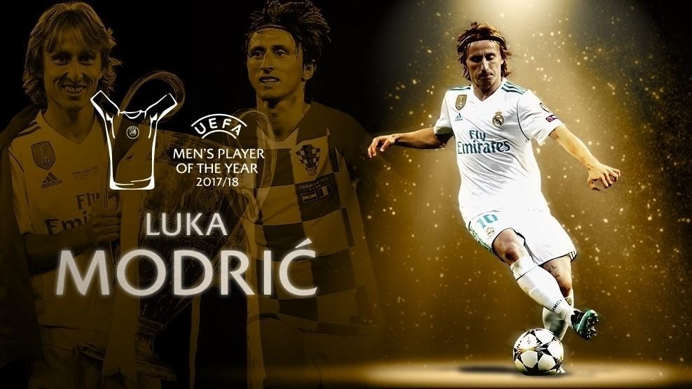 Модрич уже выиграл два индивидуальных престижных трофея в нынешнем сезоне / uefa.com