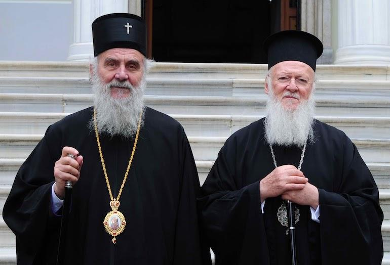 Патриархи Ириней и Варфоломей / romfea.gr / Emilios Polygenis