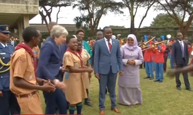 Мей станцювала у Найробі / скріншот відео ТСН