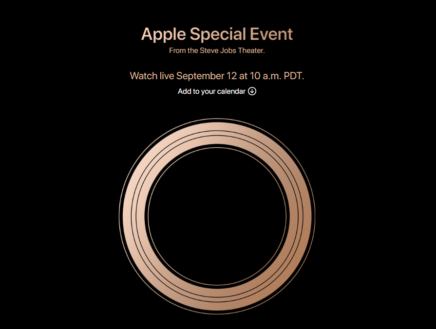 Apple назвала дату презентации новых iPhone / скриншот