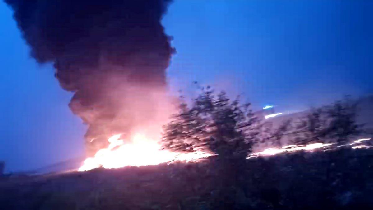Пожежа літака в Сочі / фото REUTERS