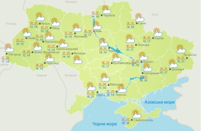 Прогноз погоди на 2 вересня