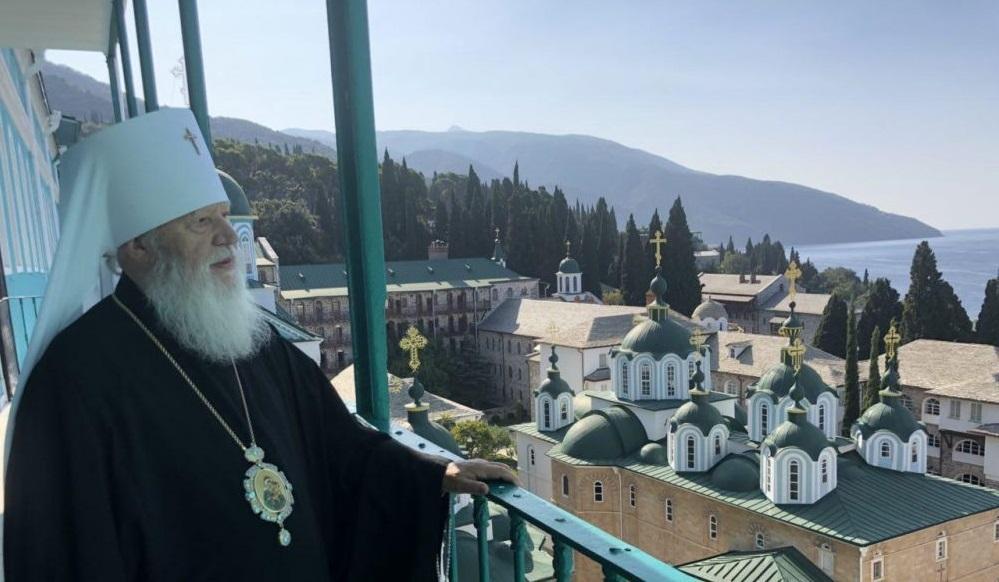 У день свого 80-річного ювілею митрополит Одеський Агафангел очолив богослужіння в монастирі на Святій Горі / eparhiya.od.ua