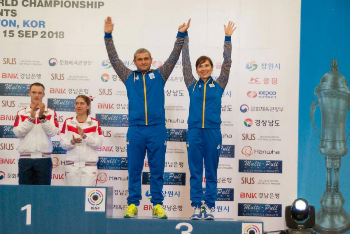 Олег Омельчук и Елена Костевич - бронзовые призеры ЧМ / НОК Украины