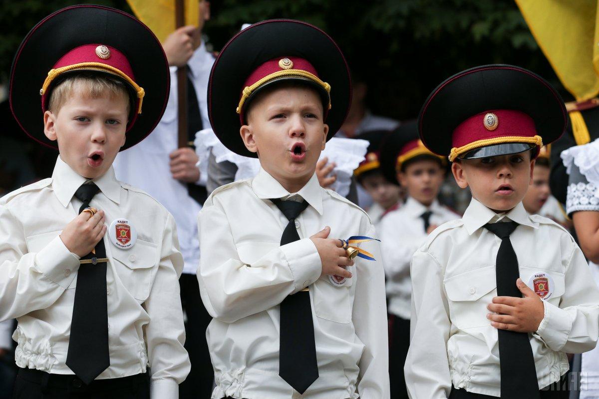 """Дети ловили """"сепара"""" иустраивали ему допрос на украинском языке/ фото УНИАН"""