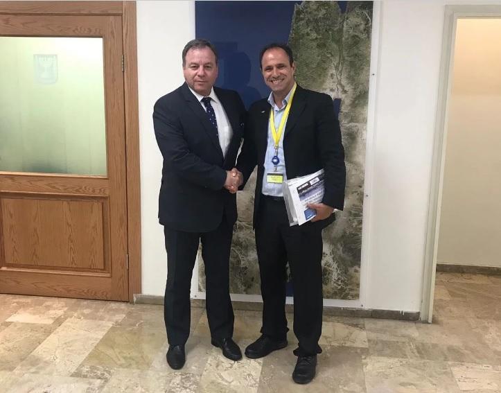Шаді Халлул і генеральний директор канцелярії прем'єр-міністра Йоав Хоровіц / dailywire.com