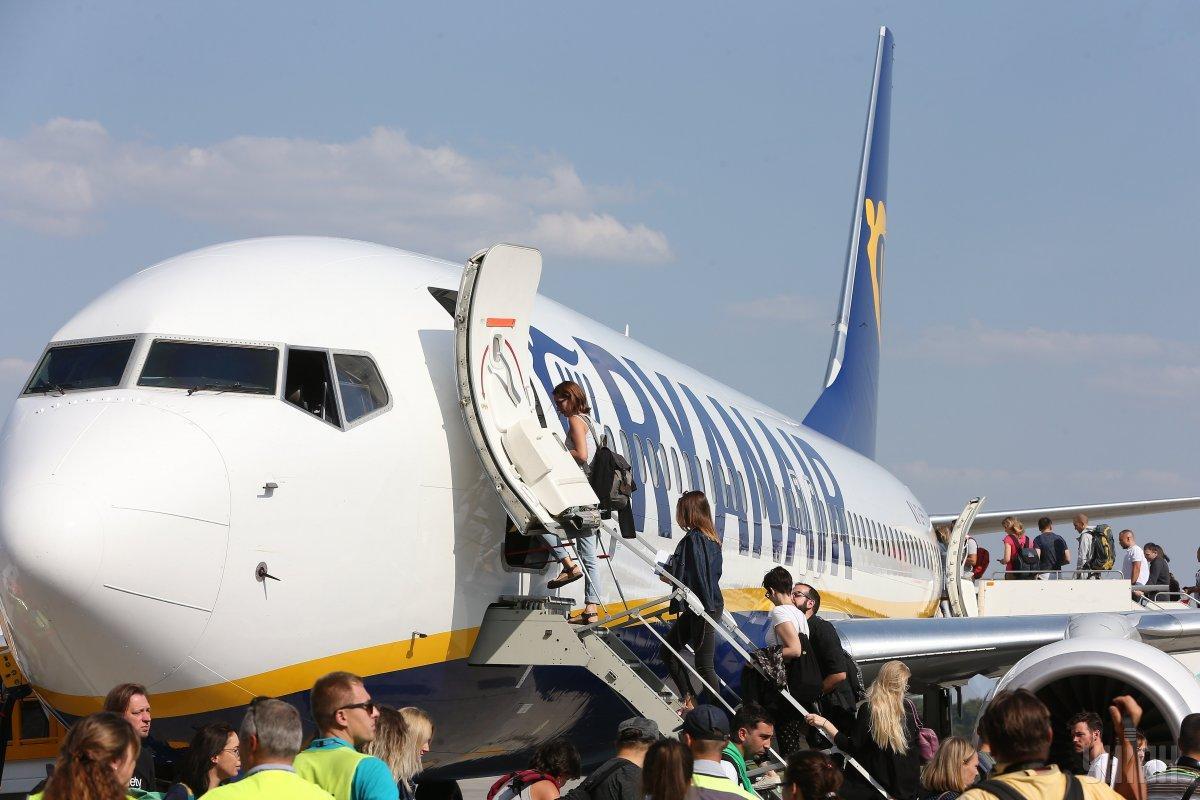 Международный аэропорт «Борисполь» 3 сентября принял первый рейс Ryanair  / УНИАН