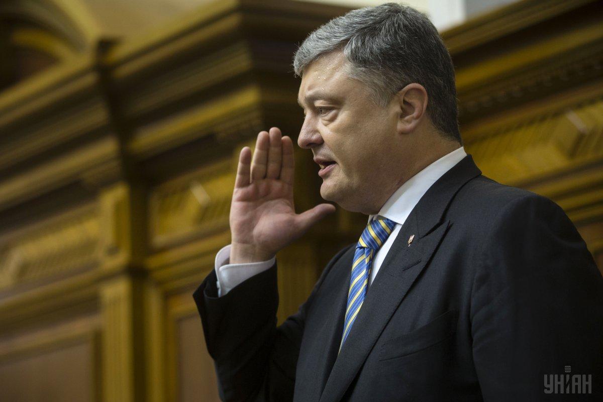 Порошенко наголосив, що запорукою миру є українські Збройні сили / фото УНІАН