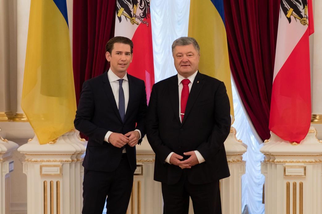 Порошенко встретился с австрийским канцлером Курцем / president.gov.ua