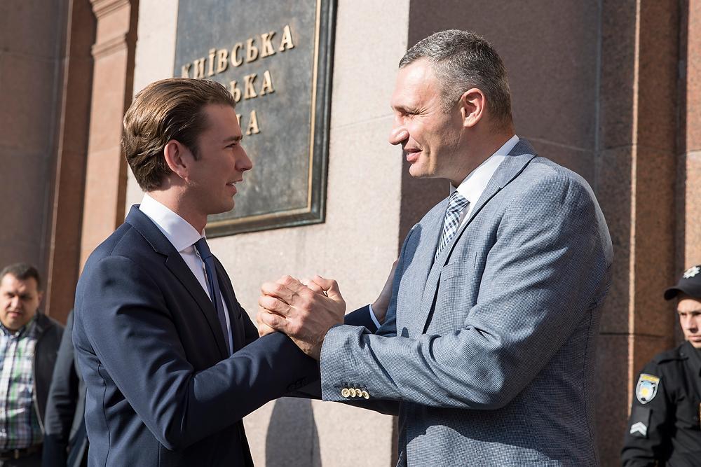 Себастьян Курц и Виталий Кличко