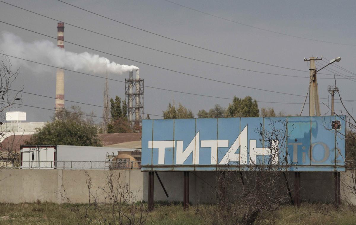 Завода «Титан» в оккупированном Россией Крыму / REUTERS