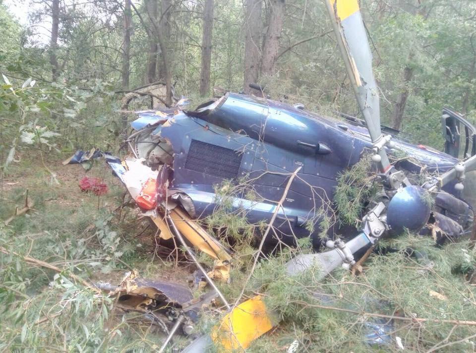В столице разбился гражданский вертолет / Facebook - Киев оперативный