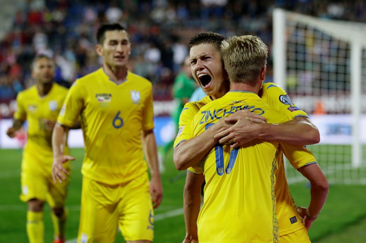 Сборная Украины обыграла Чехию в 1-м туре Лиги наций / REUTERS