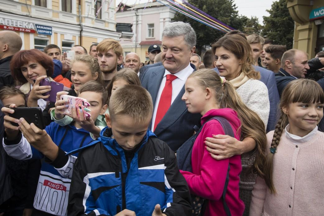 Порошенко разом з дружиною Мариною бере участь у святкуванні Дня Житомира / фото president.gov.ua