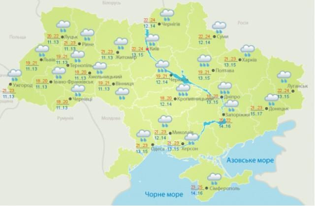 Прогноз погоди на 9 вересня
