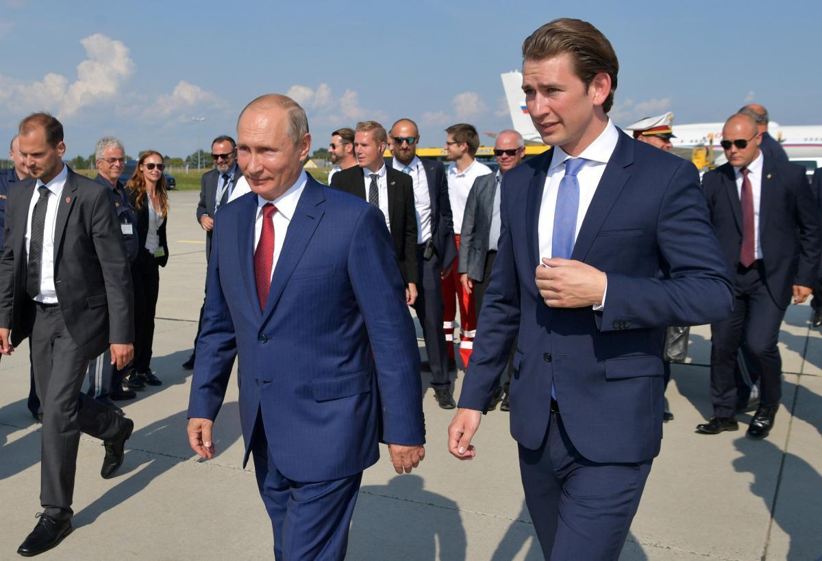 Себастіан Курц і Володимир Путін / REUTERS