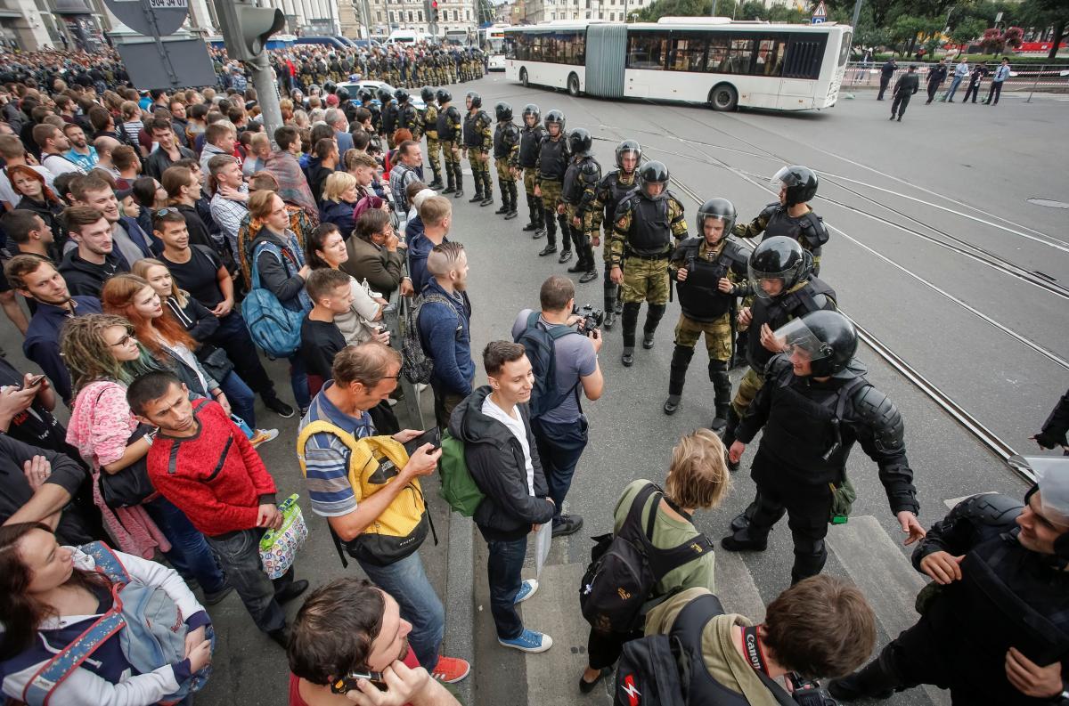 Протести в Пітері / REUTERS
