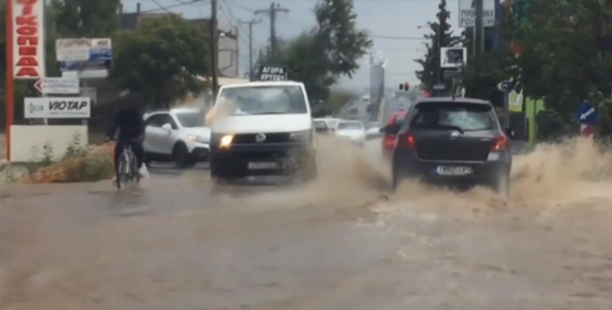 Передмістя Афін постраждав від повені / скріншот